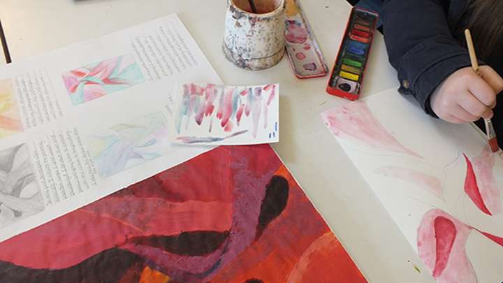 Watercolour pencils for Erith School