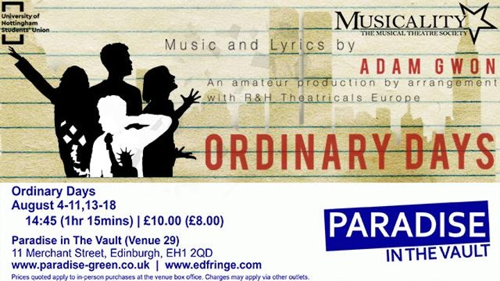 Musicality presents: Ordinary Days the Musical