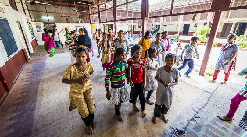 Helping Children at Gandhi Ashram, Ahmedabad - Square Mile