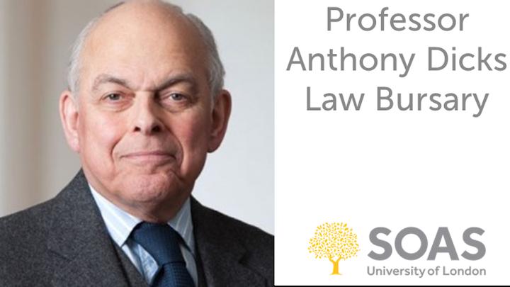 Professor Anthony Dicks Law Bursary