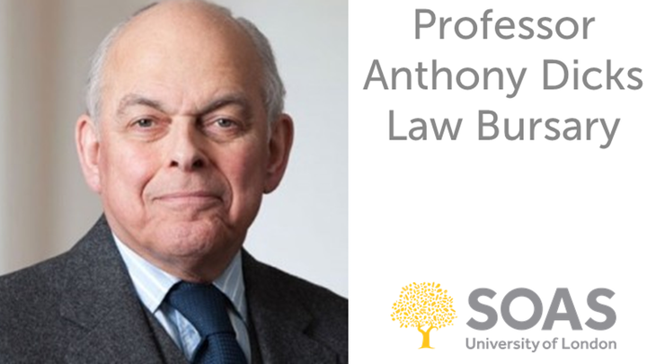 Professor Anthony Dicks Law Bursary
