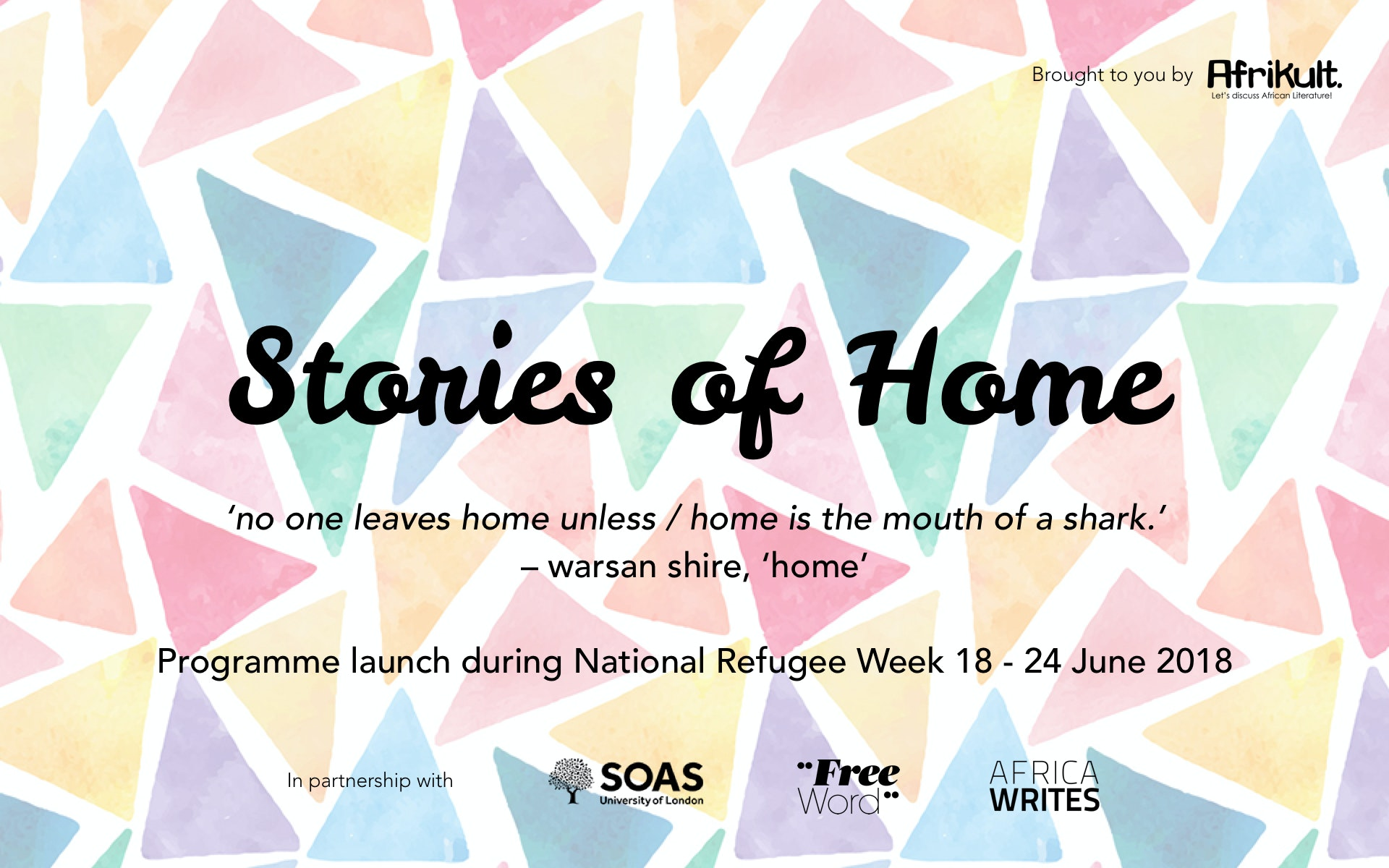 Support 'Stories of Home' refugee creative writing programme