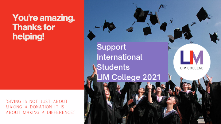 Support International Students LIM College 2021