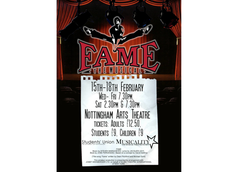 Fame the Musical - A Musicality Production